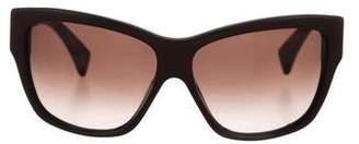 Alexander McQueen Leather Gradient Sunglasses