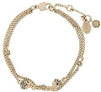 Alexander McQueen multi chain skull charm bracelet