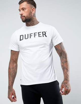 The DUFFER of ST. GEORGE Logo T-Shirt In White