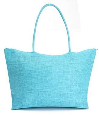 ONLINE Women Straw Beach Bag tote Shoulder Bag Summer Handbag with 9 Colors