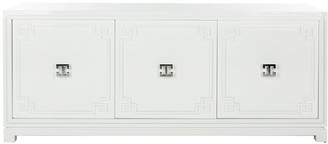 Safavieh Couture Arcelia 3-Door White Lacquer Sideboard