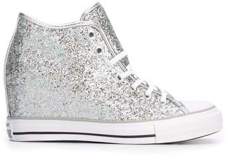 Converse high top concealed wedge sneakers