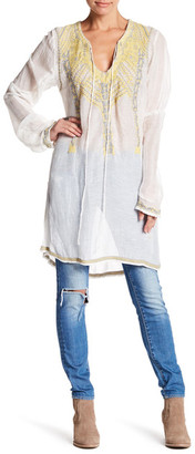Johnny Was Linen Blend Smock Tunic $288 thestylecure.com