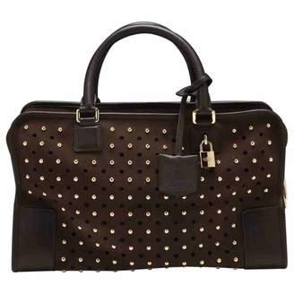 Loewe Amazona Brown Suede Handbag