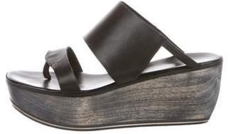 CNC Costume National Platform Thong Sandals