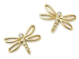 Temple St. Clair 18K Yellow Gold Dragonfly Earrings with Diamonds - 100% Exclusive