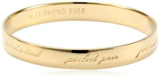 "Kate Spade Best Friend Ever"" Bridesmaid Idiom Bangle Bracelet"