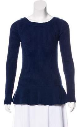 Tory Burch Merino Wool Rib-Knit Sweater