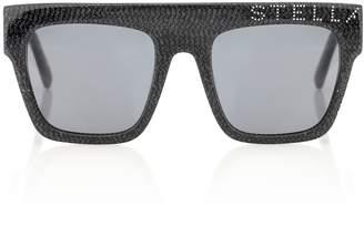 Stella McCartney Logo square sunglasses