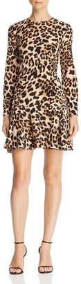 Aqua Flounce-Hem Leopard Print Dress - 100% Exclusive