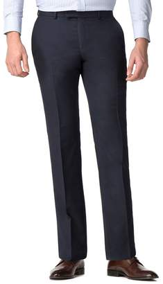 Co Hammond & by Patrick Grant - Big And Tall Navy Micro Check Modern Trousers