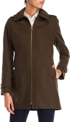 MICHAEL Michael Kors Zip Front Wool Jacket