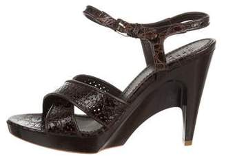 Givenchy Leather Crossover Sandals