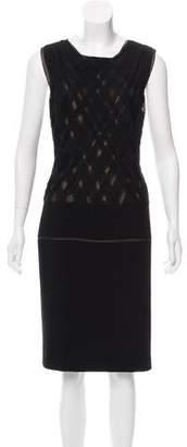 J. Mendel Silk-Wool Sleeveless Dress