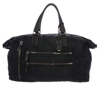 Tod's Leather-Trimmed Nylon Bag