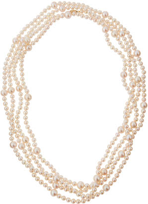 BELPEARL Long Freshwater Pearl Layering Necklace 6-7\/9-10mm