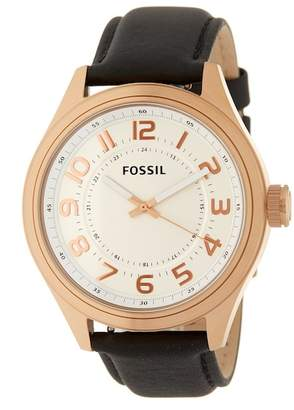 Fossil Men's Classic Leather Strap Watch, 46mm
