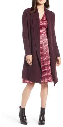 Halogen Long Ribbed Cashmere Cardigan (Regular & Petite)