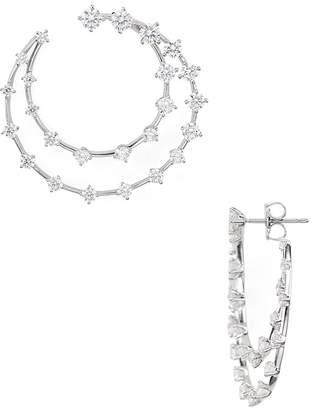Nadri Front-Back Constellation Hoop Earrings