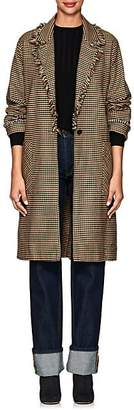 Raquel Allegra Women's Checked Cotton Mackintosh Coat - Brown