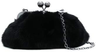 Max Mara fur clasp clutch