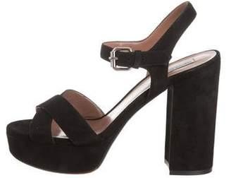 Tabitha Simmons Crossover Platform Sandals