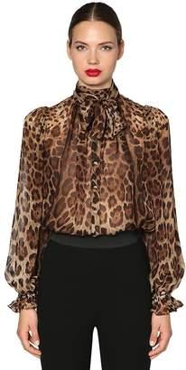 Dolce & Gabbana Leopard Chiffon Shirt