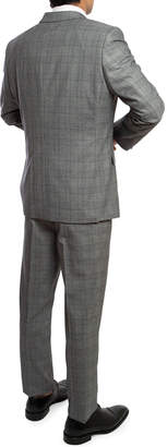 English Laundry Men's Slim-Fit Herringbone Check 3-Piece Suit