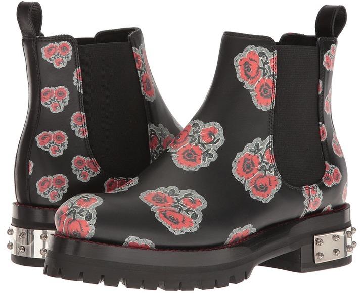 Alexander McQueenAlexander McQueen - Poppy Printed Chelsea Boot Women's Dress Flat Shoes