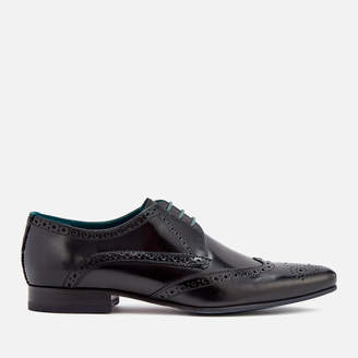 Ted Baker Men's Hosei Leather Wing-Tip Brogues - Black