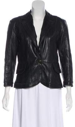 Just Cavalli Structured Leather Jacket