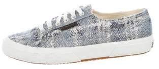 Superga Metallic Tweed Sneakers