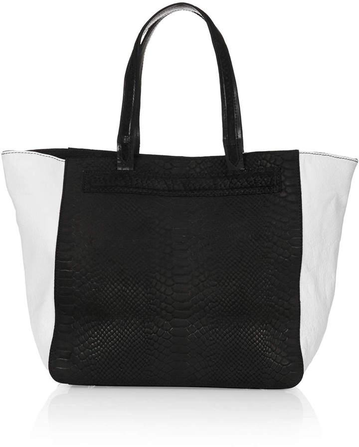 Topshop Bailey leather tote bag