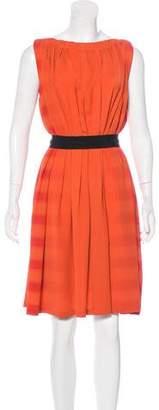 Bottega Veneta Pleated Knee-Length Dress