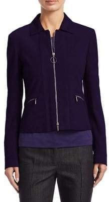 Akris Punto Short Zip Suede Jacket