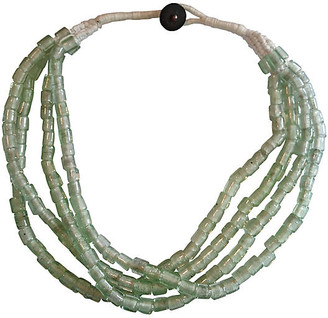 One Kings Lane Vintage Pale Green Sea Glass Necklace