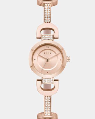 DKNY City Link Rose Gold-Tone Analogue Watch