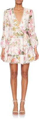Zimmermann Heathers Longsleeve Floral Flounce Dress