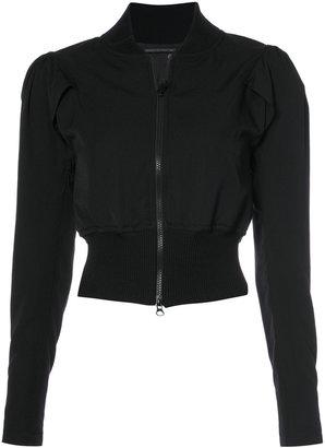 gathered sleeve jacket