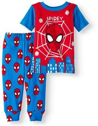 Spiderman Newborn Baby Boy Cotton Tight Fit Pajamas, 2pc Set