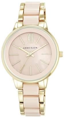 Anne Klein Ladies Gold And Pink Analogue Bracelet Watch Ak/N1412bmgb