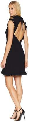 Jill Stuart Little Black Dress with Open Back Women's Dress