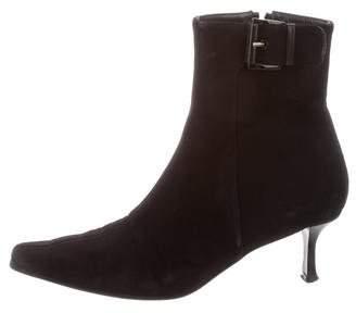 Stuart Weitzman Squared-Toe Ankle Boots