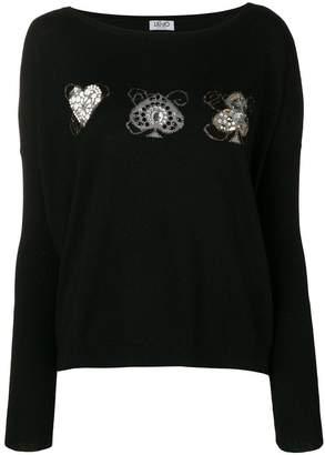 Liu Jo embellished pullover