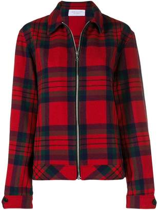 John Elliott plaid zipped jacket