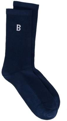 Band Of Outsiders B-logo sports socks