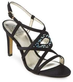 Adrianna Papell Ace Embellished Leather Sandals