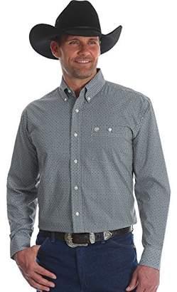 Wrangler Men's Classic Button Front Long Sleeve Woven Shirt