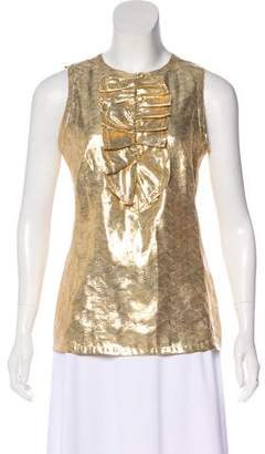 Tory Burch Sleeveless Metallic Top