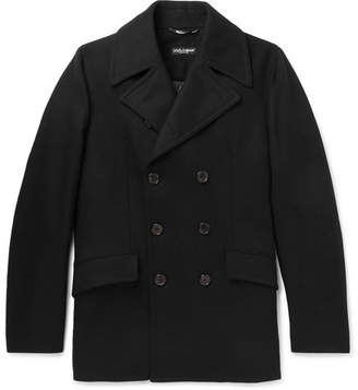 Dolce & Gabbana Stretch Virgin Wool-Blend Peacoat